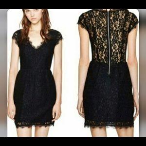 Babaton Tobias dress sz 0 black lace